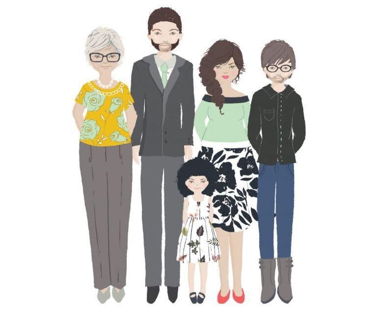 Rodina s ideálně laděným outfitem - jako jeden y tipů pro klienta na rodinné focení. Tipy portrétní fotograf Lenka Krobová
